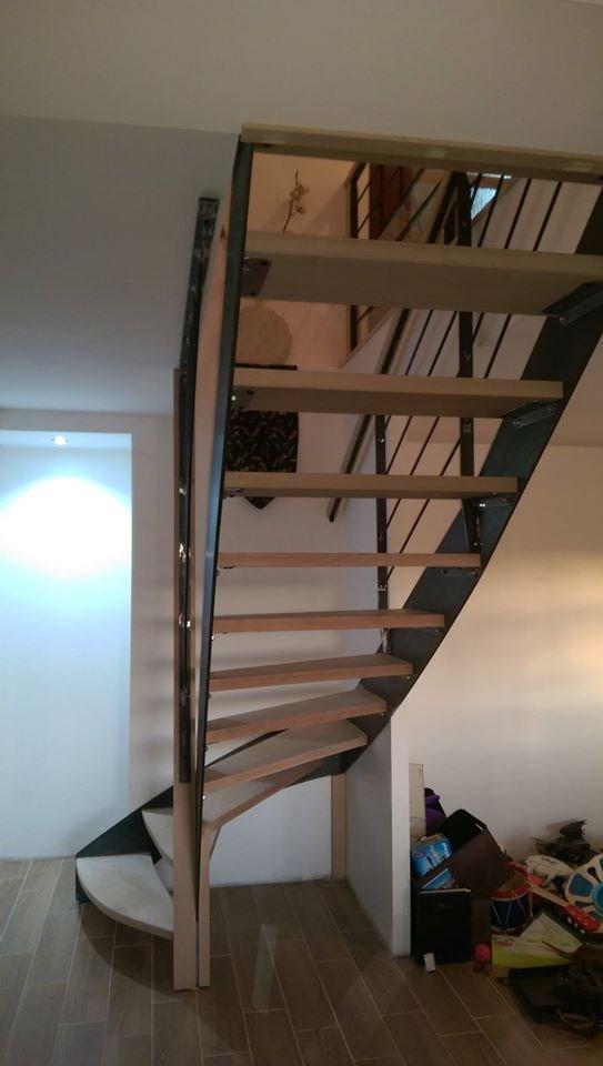 escaliers bois, metal, acier Ussel Correze modernes ou classiques