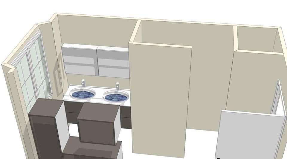 Meubles salles de bains sur mesure amenagement salles de for Conception salle de bain 3d