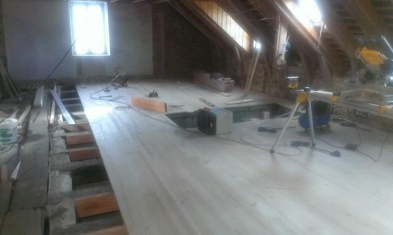 plancher bois massif et isolation Corrèze Ussel